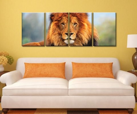 King of the Plains 4 Piece Canvas Artwork