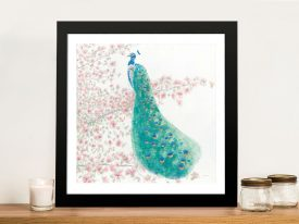 Spring Peacock ll Cheap Canvas Art
