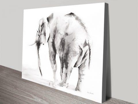 Lone Elephant Gray Wall Art Australia Online