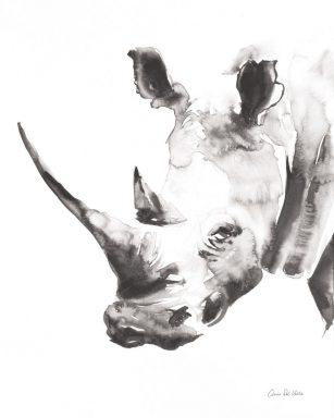 Rhino Gray Artwork On Canvas By Aimee Del Val