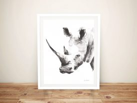 Rhino Grey Framed Canvas Art