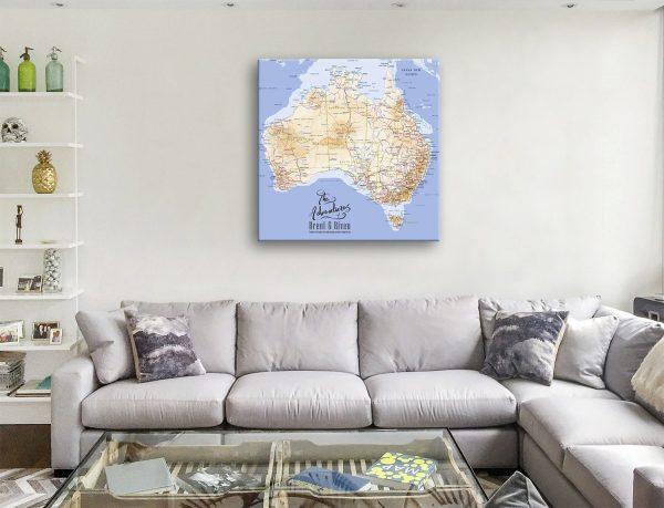 Custom Australia Travel Map with Pins