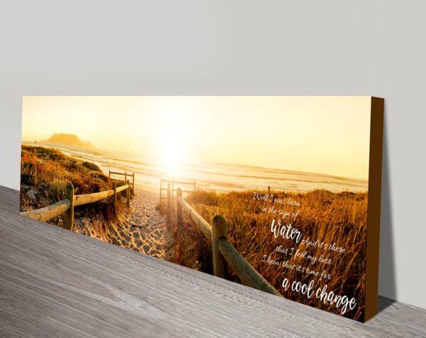 Sunset Beach Pathway Inspirational Quote Canvas Art