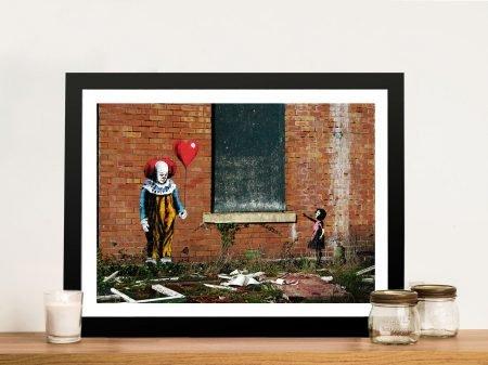 Balloon Girl vs IT Graffiti Wall Art