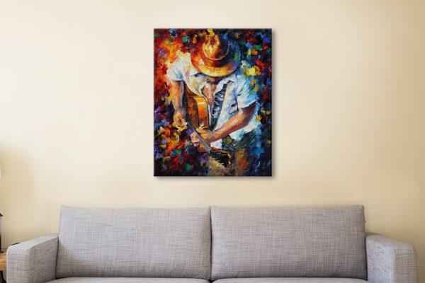 Guitar & Soul by Leonid Afremov Canvas-Artwork
