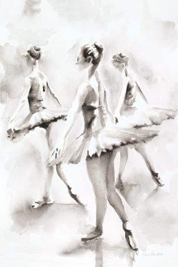 Three Ballerinas Framed Canvas Wall Art By Aimee Del Valle