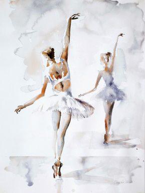Ballerina In Blue By Aimee Del Valle Wall Art Australia