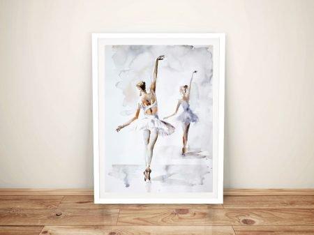 Ballerina In Blue Framed Wall Art