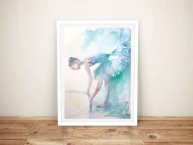 Pointe Shoes Framed Canvas Wall Art