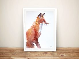 Sly As A Fox Print On Canvas
