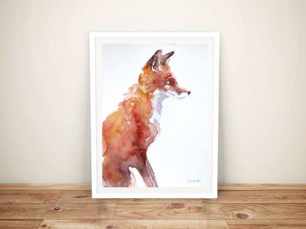 Sly As A Fox Print On Canvas