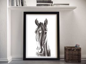 Le Cheval Noir Framed Canvas Art