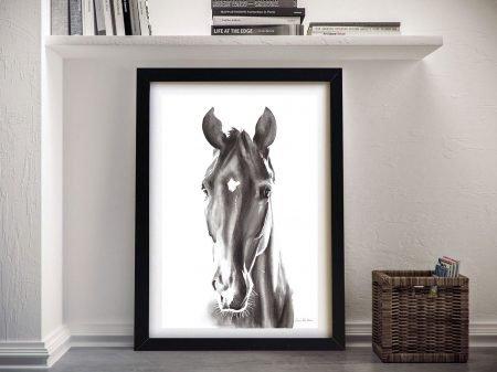 Le Cheval Noir Framed Canvas Art