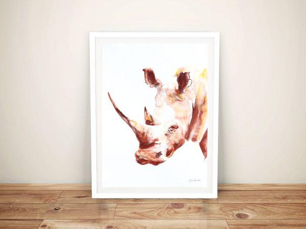 Rhino By Aimee Del Valle Wall Art