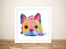 Am I French French Bulldog Framed Wall Art