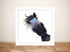 Apple Dapple Darwin Nosy Horse Canvas Wall Art