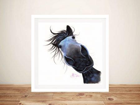 Apple Dapple Darwin Nosy Horse Canvas Wall Art