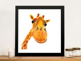 Benny Giraffe Framed Wall Art by Shirley MacArthur