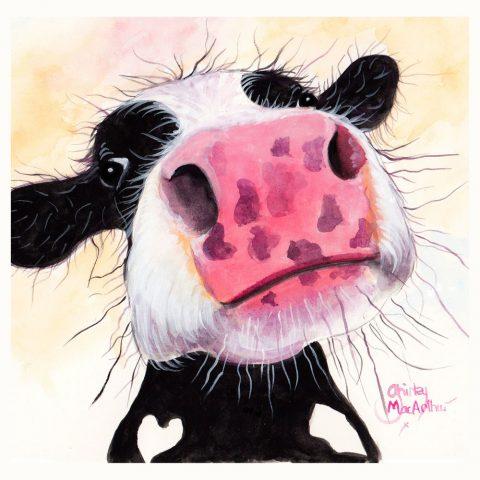 Betty Blueberry Cow Shirley Macarthur wall art