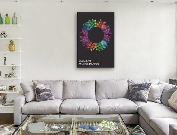 Billie Jean Soundwave Artwork on Canvas