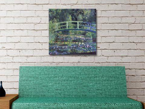 Monet Water Lily Pond Canvas Artwork