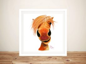 Ginger Nut Cute Horse Framed Wall Art