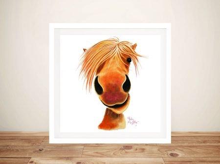 Ginger Nut Cute Horse Framed Wall Art