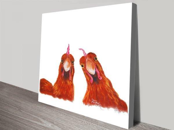 Harriet & Humbug Cute Chickens Wall Art