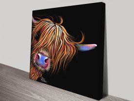 Highland Cow SuGaR LuMP Framed Wall Art Australia