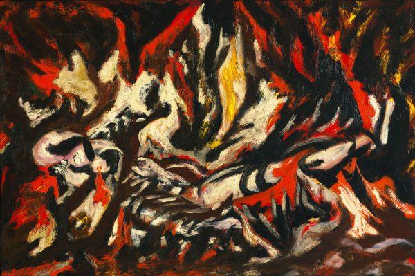 Jackson Pollock The Flame Framed Artwork Available Online
