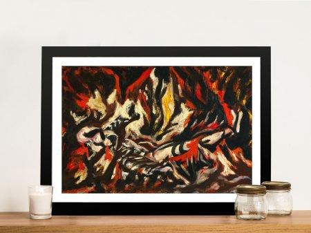 Jackson Pollock The Flame Framed Wall Art