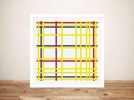New York City By Piet Mondrian Framed Abstract Artwork