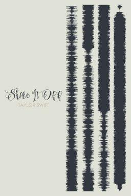 Shake It Off Soundwaves Framed Canvas Art