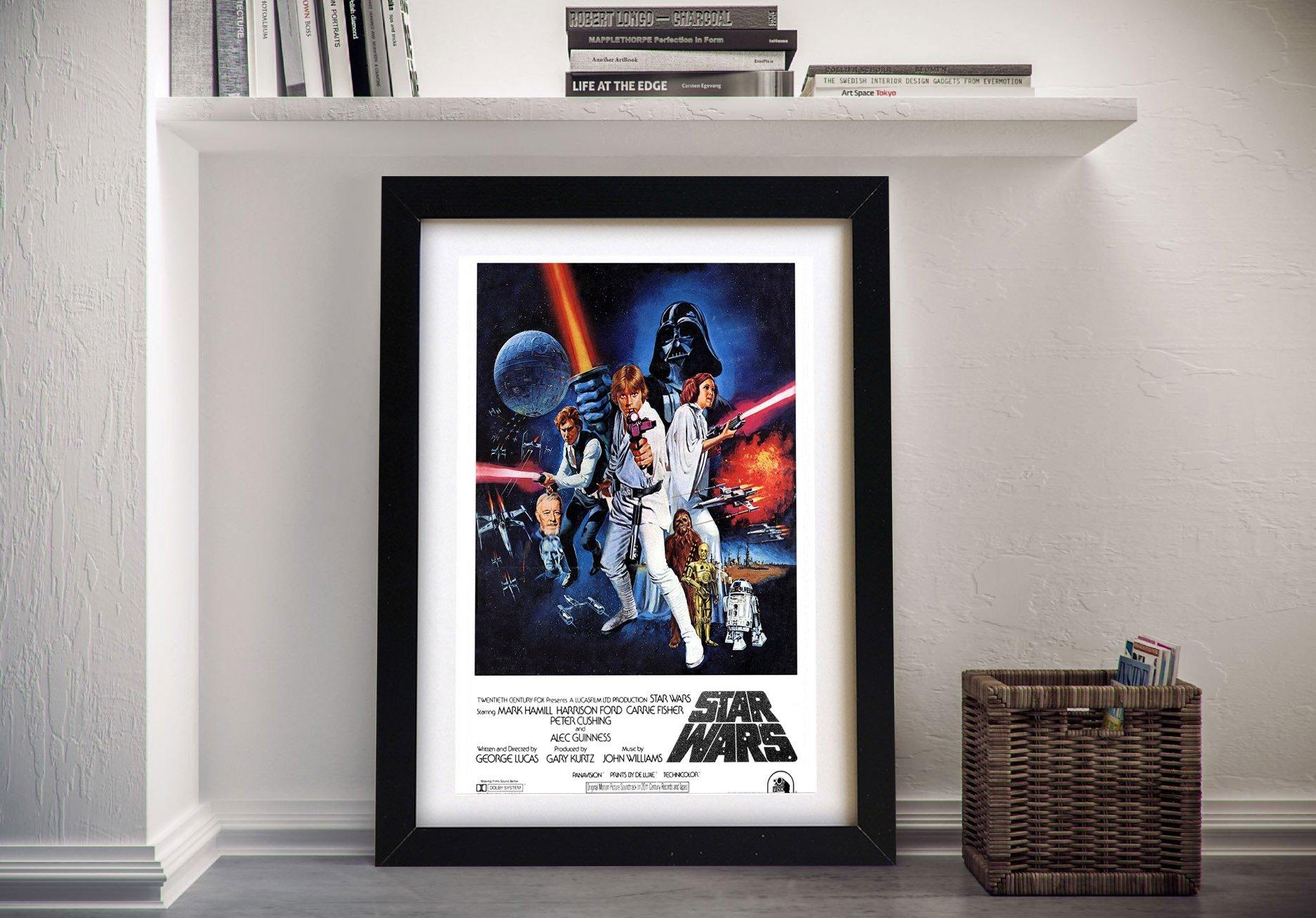 Star Wars New Hope Movie Poster Framed Artwork