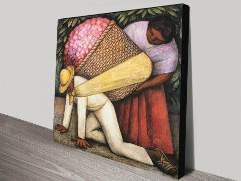 The Flower Carrier Cheap Canvas Art Australia