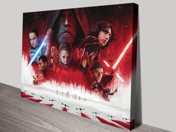 The Last Jedi Movie Wall Art Australia