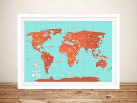 Online World Map Pinboard Australia | Blue Horizon Prints on plastic world map, modeling clay world map, cork board world map, penguin world map, paper world map, bulletin board with world map, key world map, clip world map, framed world map, staples world map, pen world map,