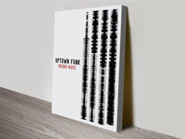 Bruno Mars Uptown Funk Soundwaves Framed Canvas Art