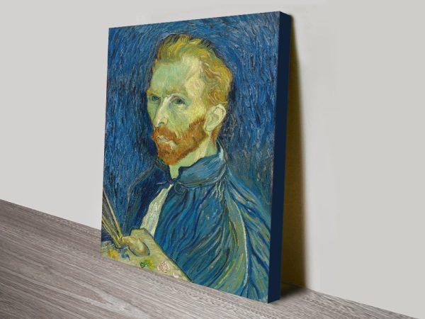 Van Gogh Classic Art Self Portrait Print On Canvas