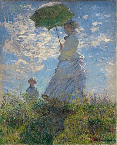 man with a Parasol Claude Monet Artwork Print