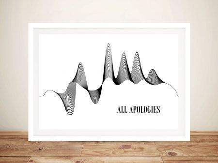 All Apologies 3D Soundwave Artwork