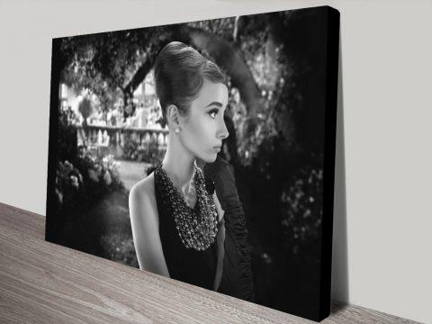 Audrey Hepburn Iconic Beauty Canvas Prints Australia