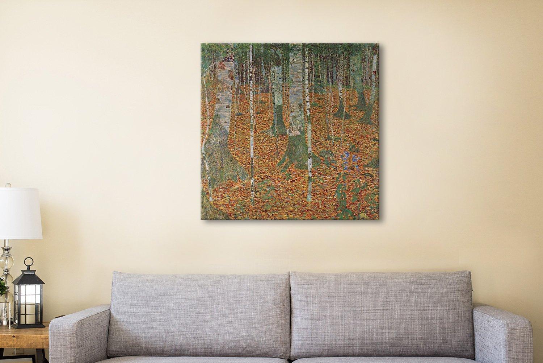 Birch Forest Ready to Hang Klimt Art Print