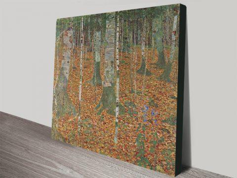 Birch Forest By Klimt Stretched Canvas Artwork Australia
