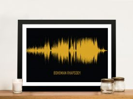 Bohemian Rhapsody Soundwave Wall Art