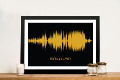 Bohemian Rhapsody Soundwave Wall Art