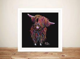 Bolly Happy Cow Shirley MacArthur Framed Prints