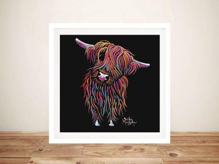 Bolly Happy Cow Shirley MacArthur Framed Prints