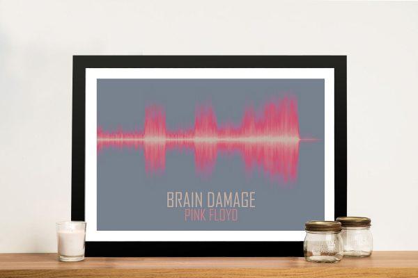 Brain Damage Soundwave Print