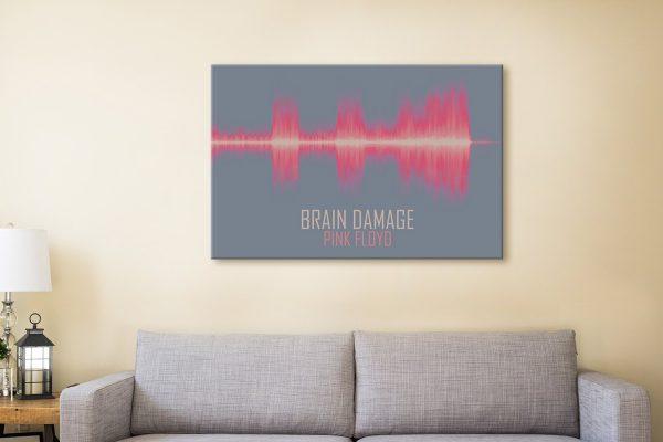 Brain Damage by Pink Floyd Soundwave Art